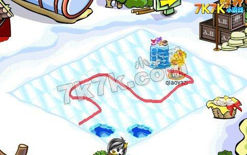 奥比岛冰雪迷宫怎么走?